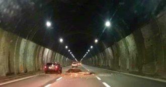 Crollo in galleria sulla A6 Torino-Savona, riaperta in direzione Piemonte dopo chiusura