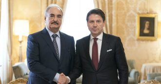 """Libia, il generale Haftar incontra Conte a Palazzo Chigi. Salta il meeting con al-Sarraj: """"Nessun dialogo con i criminali di guerra"""""""