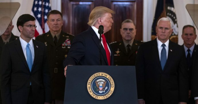 L'Iran spara a salve, Trump gongola. La fiammata di tensione potrebbe essersi spenta qui