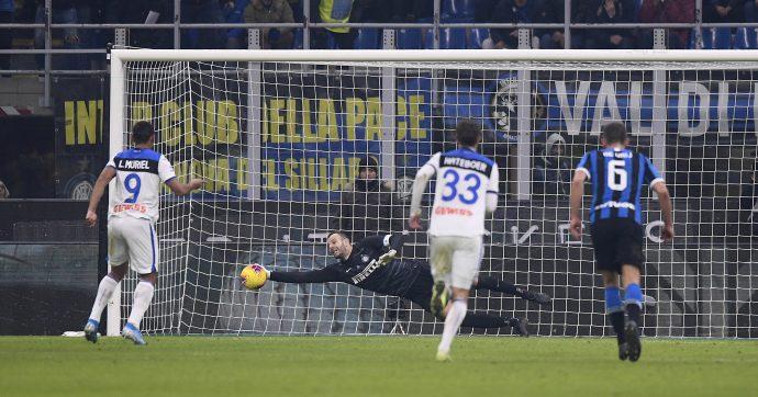 Inter-Atalanta 1-1, spettacolo a San Siro: Handanovic salva Conte, rigore parato a due minuti dal '90