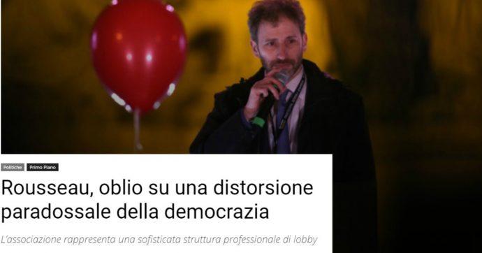 """La Casaleggio associati denuncia giornale fondato dal partigiano Segre: ha definito Rousseau """"distorsione della democrazia"""""""