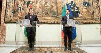 Libia, Conte incontra Sarraj a Roma dopo le polemiche per la visita di Haftar: 'Per pace serve Ue unita'. Leader Tripoli: 'Haftar si ritiri'