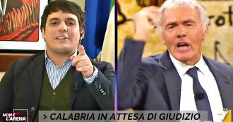 """Giletti si infuria con Marco Polimeni: """"Mi sono rotto le palle, pulitevi la bocca prima di parlare di Gratteri. Si vergogni"""". """"La querelo"""""""