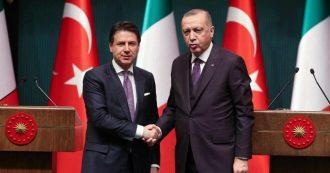 """Libia, Conte vede Erdogan ad Ankara: """"Favorevoli alle forze d'interposizione Onu. Comunità internazionale preservi la tregua"""""""