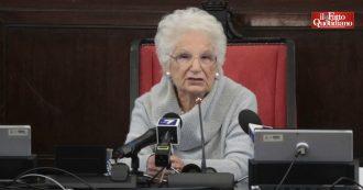 """Liliana Segre, la senatrice in Consiglio comunale a Milano lancia un appello ai giovani: """"La paura fa fare cose vergognose. Voi fate la scelta"""""""