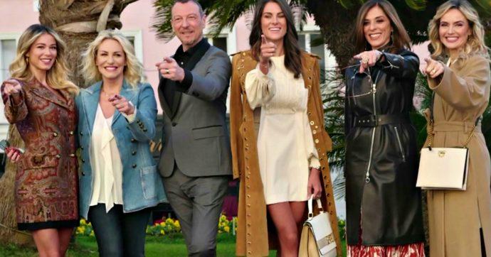 """Festival di Sanremo 2020, Amadeus: """"La fidanzata di Rossi sempre un passo indietro a lui"""". Accuse di sessismo. Lui: """"Sono stato frainteso, ho imparato che bisogna stare attenti a ogni parola"""""""