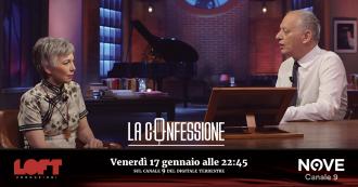 """La Confessione (Nove), Irene Pivetti a Peter Gomez: """"Ho sofferto tanto dopo che Bossi mi cacciò dalla Lega. Ma oggi lo ringrazio"""""""