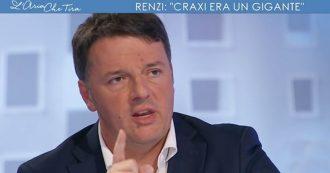 """Renzi riabilita Craxi: """"Un gigante rispetto ai politici di oggi. Condannato perché 'non poteva non sapere"""
