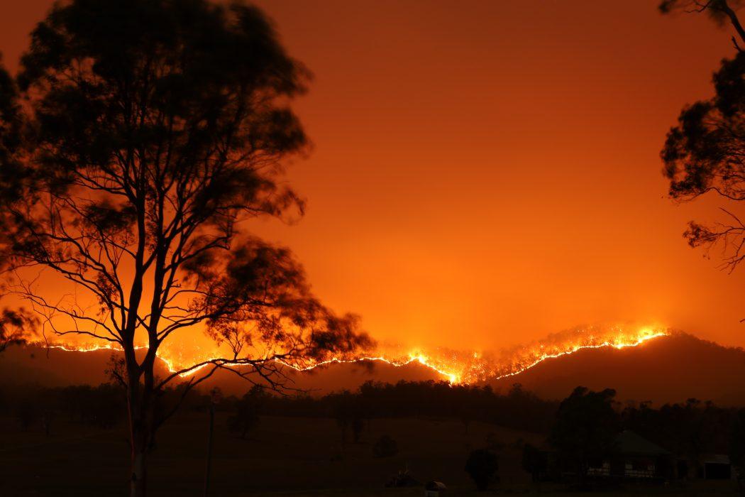 Bushfire in Bowraville, NSW, Australia, November 2019