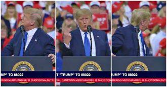 """Trump contestato due volte al comizio attacca la ragazza che lo critica: """"A casa avrai dei guai, tua mamma vota per me"""""""