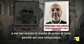 """Ferrara, il vicecapogruppo leghista alla consigliera: """"Un lavoro in Comune da 1400 euro, così non ti vedo più"""". L'audio di Piazzapulita"""