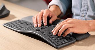Logitech Ergo K860, tastiera per produttività ed ufficio comoda ed ergonomica