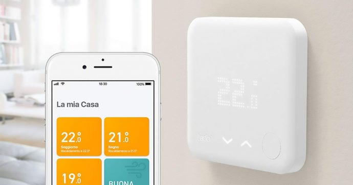 Tado, termostato intelligente compatibile con Apple e Google, scontato del 35% su Amazon