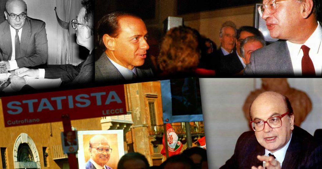 """Bettino Craxi, """"statista come De Gasperi e Churchill"""", """"sconfitto dallo status quo"""", """"atletico"""": 20 anni dopo è beatificazione, in tv e sui giornali"""