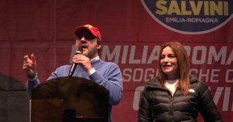 """Bibbiano, Salvini sulla piazza contesa con le Sardine: """"Giovedì 23 ci saremo, lo avevo promesso alle mamme e ai papà"""""""