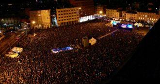 """Sardine a Bologna, """"40mila in piazza: è svolta, si può cambiare l'esito del voto. In due mesi il clima politico e sociale è cambiato"""""""