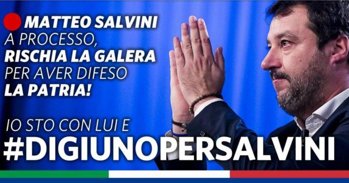 Gregoretti, la Lega lancia #digiunopersalvini anche se il leader del Carroccio ha chiesto ai suoi di essere mandato a processo