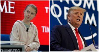 """Davos, scontro Trump-Greta: """"La nostra casa sta ancora bruciando, voi alimentate il fuoco"""". Il tycoon: """"Ambientalisti profeti di sventura"""""""