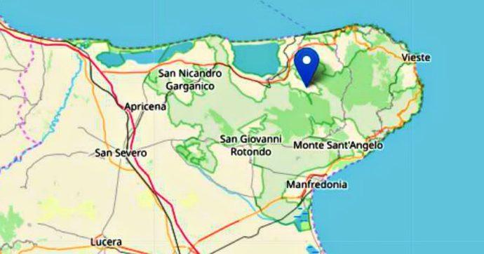 Terremoto nel Foggiano, scossa di magnitudo 3.6 registrata a 4 chilometri da Carpino