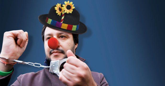 In Edicola sul Fatto Quotidiano del 21 Gennaio: I Pagliacci. Salvini si manda a processo da solo