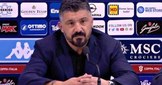 """Gattuso ai giornalisti: """"Fate i bravi, secondo voi posso prendermi a cazzotti con un giocatore?"""""""