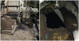 """Ilva, sindacati: """"Tre esplosioni nell'Acciaieria 2, squarci alle tubazioni che recuperano i gas"""""""