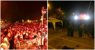 """Bibbiano, la piazza delle Sardine sfida quella leghista: """"Siamo 5mila, loro strumentalizzano le famiglie"""". Salvini: """"Qui in difesa dei bimbi"""""""