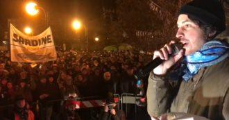 """Bibbiano, Santori (Sardine): """"Nella piazza della Lega ci sono comparse pagate per stare lì"""""""