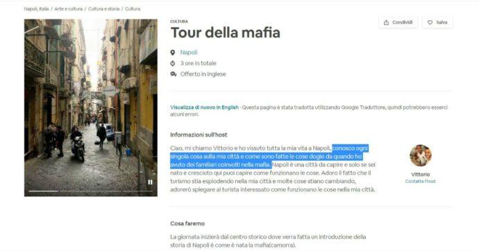 """AirBnb, tra gli annunci della piattaforma spunta il """"mafia-tour"""" per conoscere la camorra: è polemica sui social"""