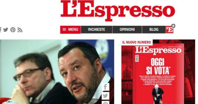 """Fondi Lega, archiviate le querele di Salvini contro l'Espresso: """"Notizie sui 49 milioni esempio di giornalismo d'inchiesta"""""""