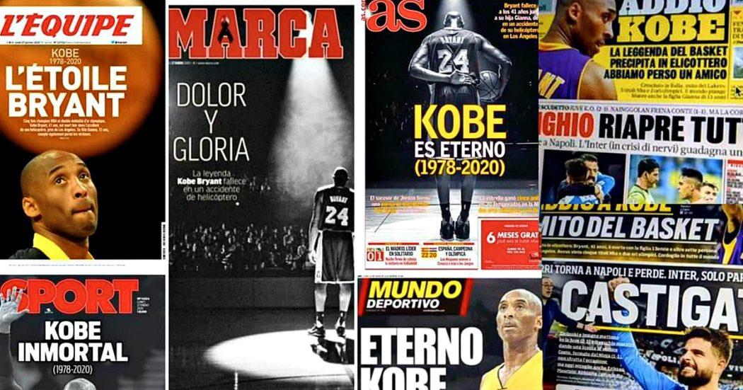 "Kobe Bryant, da Belinelli a Pellegrini: critiche ai giornali sportivi italiani. ""Vergognatevi"""