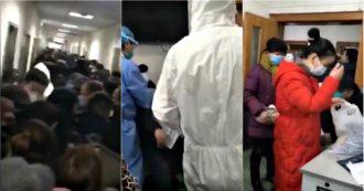 Coronavirus, presi d'assalto gli ospedali di Wuhan: persone si accalcano nei corridori