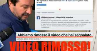 Salvini, Facebook rimuove il video della citofonata: segnalato per incitamento all'odio