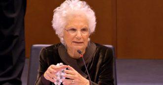 """Liliana Segre al Parlamento europeo: """"Razzismo e antisemitismo insiti negli animi dei poveri di spirito. Olocausto? C'è chi ancora lo nega"""""""