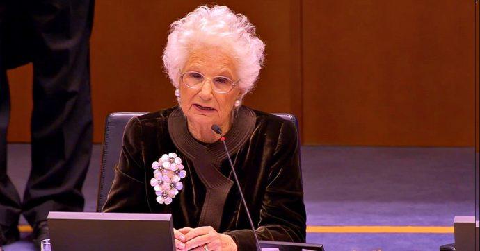 """Liliana Segre al Parlamento Ue, applauso e ovazioni. """"Razzismo e antisemitismo ora più visibili perché c'è momento politico adatto"""""""