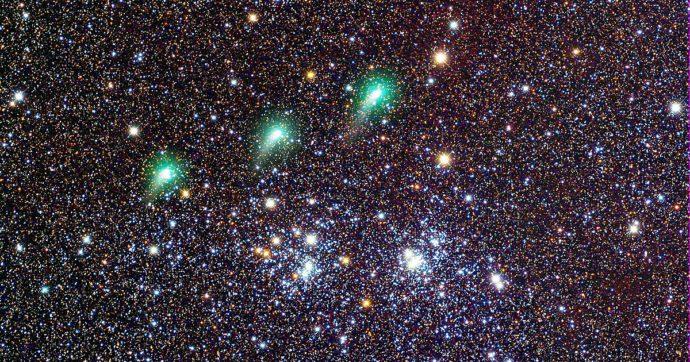 Una corona brillante nel cielo che pullula di stelle, ecco la cometa Panstarr foto del giorno della Nasa