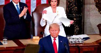 """Usa, discorso sullo stato dell'Unione: Trump punta sui successi economici per la rielezione. I dem escono dall'Aula: """"Bugie insopportabili"""""""