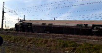 Treno Frecciarossa deraglia vicino a Lodi, le immagini dal luogo dell'incidente