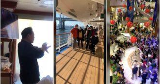 Coronavirus, la quarantena a bordo della nave da crociera Diamond Princess: passeggiate sul ponte, tai chi in cabina e canzoni giapponesi