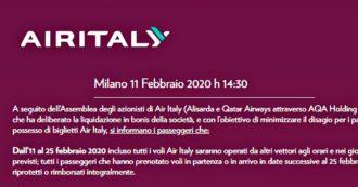 Air Italy in liquidazione, tutti gli aerei a terra: ecco cosa fare se avete comprato un biglietto
