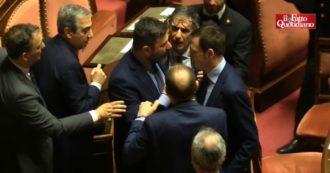 Gregoretti, tensione in Aula dopo l'intervento di Salvini. Scontro tra De Vecchis (Lega) e Marco Pellegrini (M5s). Il questore De Poli li divide