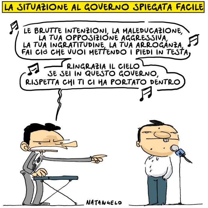 Lo scazzo Conte-Renzi