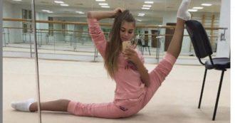 """Alexandra Soldatova, star della ginnastica ritmica ammette: """"Soffro di bulimia. Sono stata in ospedale due volte, ora mi fermo per curarmi"""""""