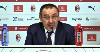 """Milan-Juventus, Sarri: """"Rigore clamoroso con le norme attuali. Ce n'era uno su Cuadrado dieci minuti prima"""""""