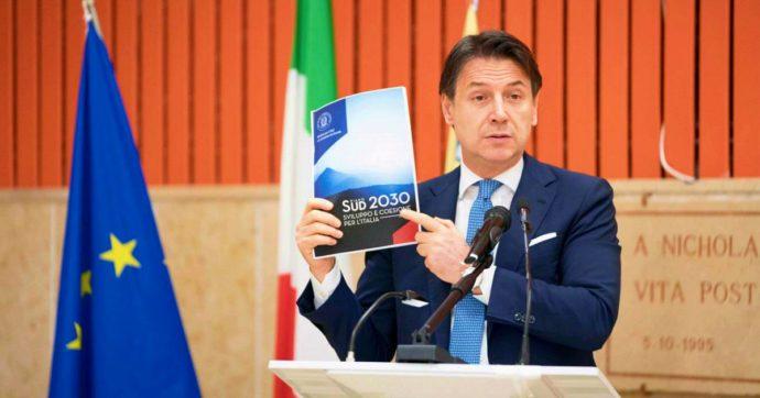 """Sud, Conte annuncia piano decennale: """"Investimenti per 123 miliardi con risorse interne dedicate e fondi strutturali europei"""""""