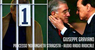 """Mafia, Graviano: """"Berlusconi ha tradito anche Dell'Utri. Lo ha danneggiato con le leggi che ha fatto per non farci uscire dal carcere"""" – Audio"""