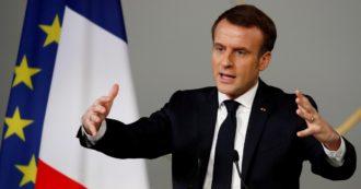 """Ue, Macron: """"È il momento della verità, senza un fondo che emetta debito comune il progetto rischia di crollare e vinceranno i populisti"""""""