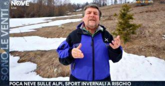 """Clima, Mercalli a Sono le Venti (Nove): """"Stazioni sciistiche chiudono, vanno ripensati gli investimenti pubblici sul turismo invernale"""""""