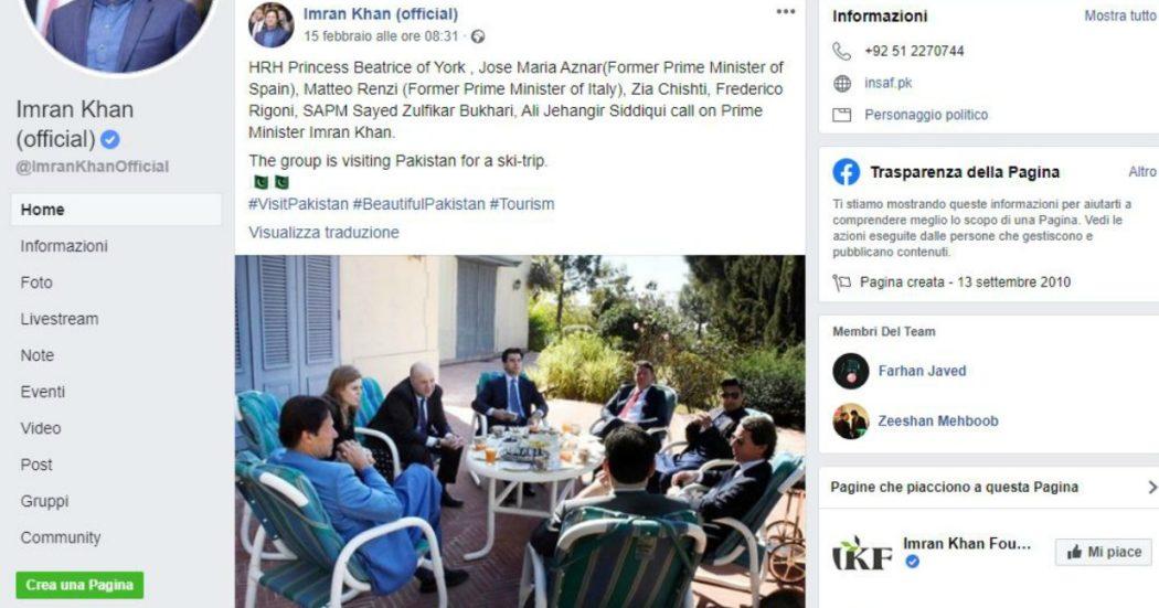 Renzi in Pakistan a sciare con l'alta finanza, M5s: 'Vacanze sono sua priorità'. Lui: 'Devo chiedere permesso al tribunale dell'antirenzismo?'