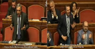 """Intercettazioni, slitta il voto al Senato: protesta opposizione. Gasparri: """"Incapaci di governare"""". Romeo: """"Prendono in giro il Parlamento"""""""